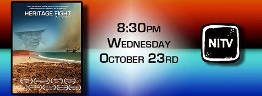 A MUST SEE:Switch your TV on !! NITV Oct 23rd, 8.30pm. Broome and the campaign on TV this Wednesday