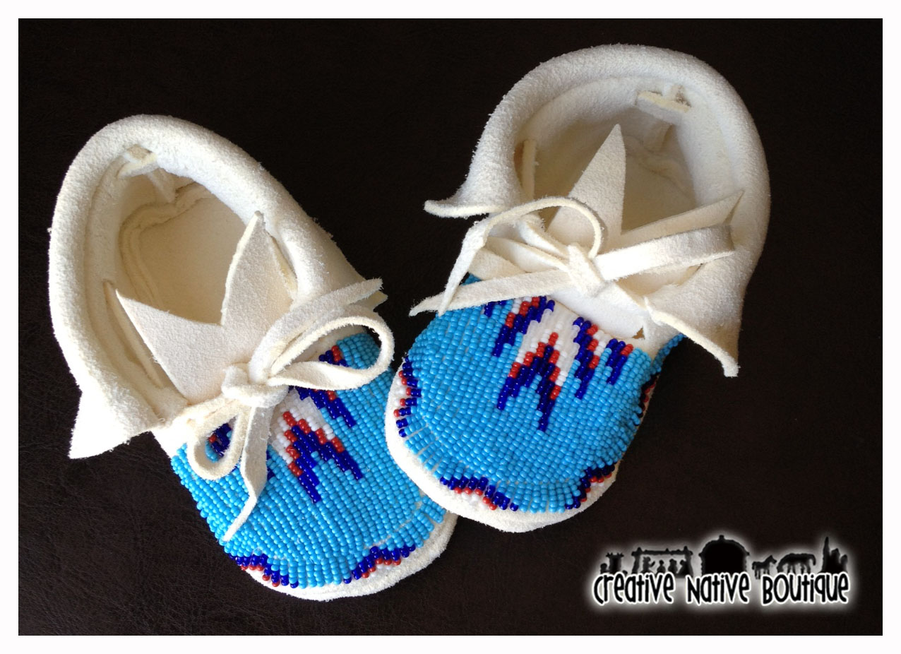 creative boutique beaded baby moccasins
