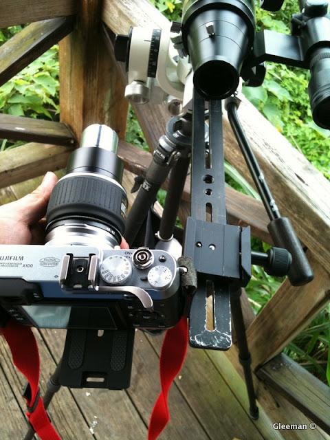 使用快拆座可以方便更換成目鏡目視,在目視及攝影間快速切換。