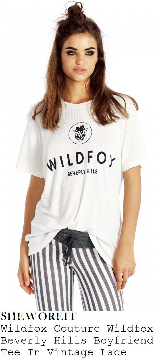 millie-mackintosh-white-wildfox-beverly-hills-boyfriend-t-shirt