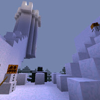 Minecraft snow fort