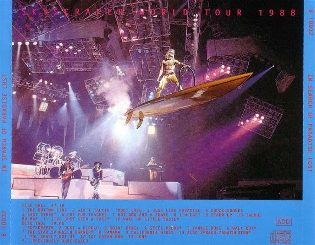 back cover of japanese bootleg