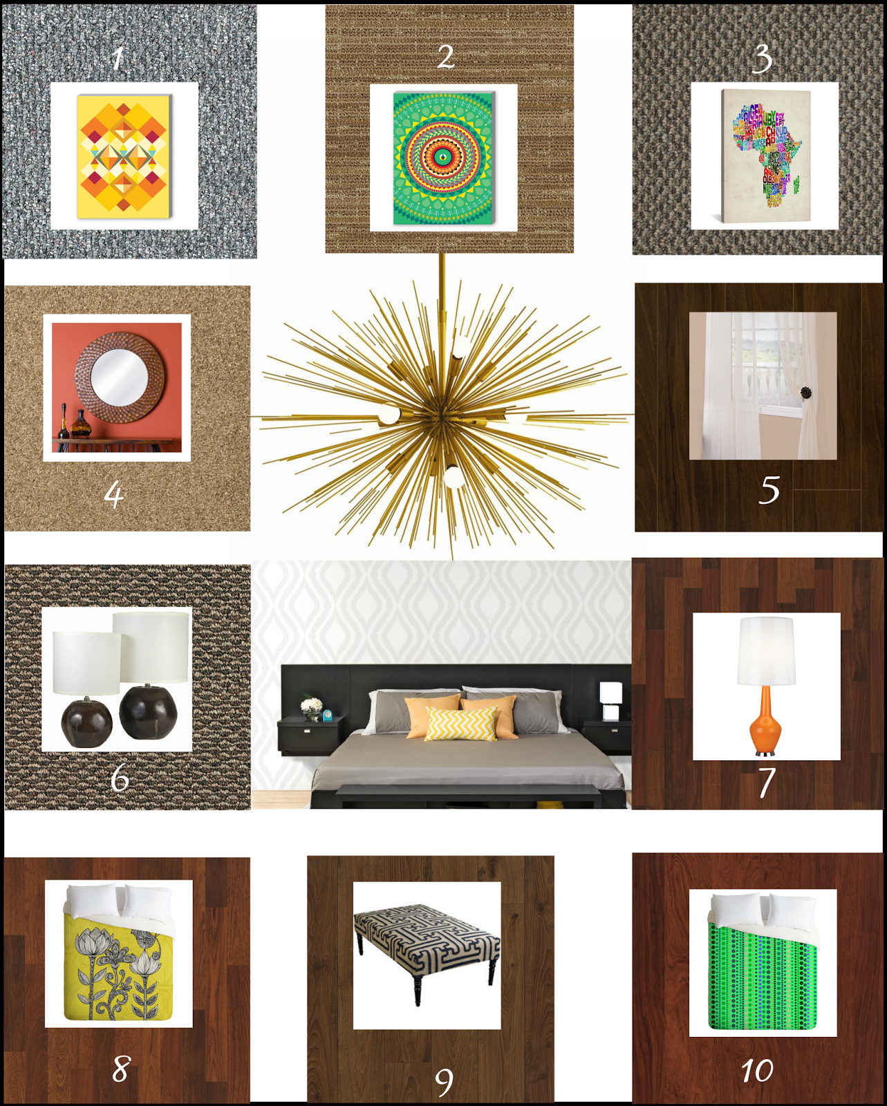mood board for guest room home decor #shop