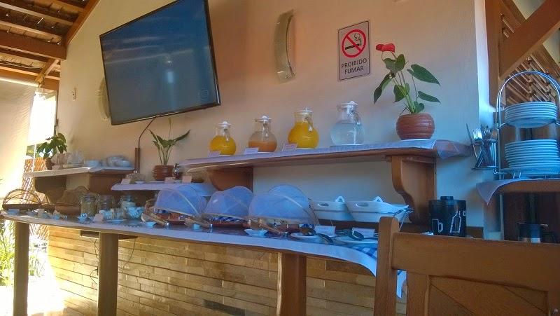 Foto do ambiente do café da manhã