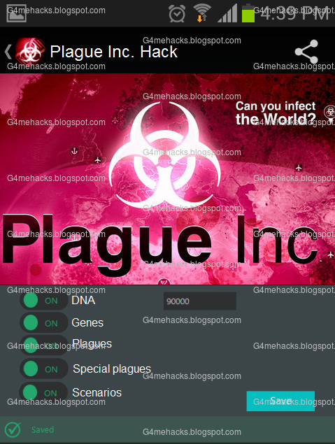 Plague Inc Hack