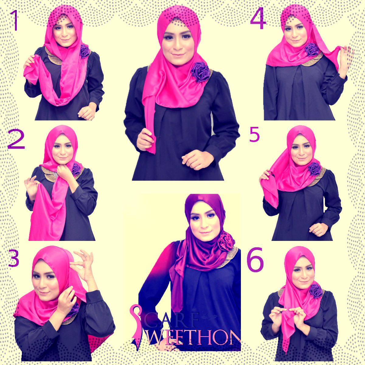 also Cara Cara Berhijab Modern quot as well Tutorial Hijab Segi Empat ...