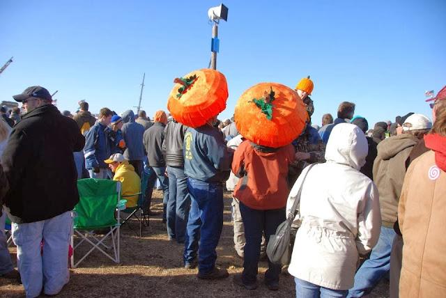 People enjoying in Pumpkin Chunkin