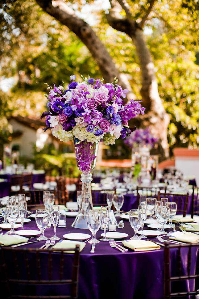 Purple wedding centerpieces decor ideas decorations