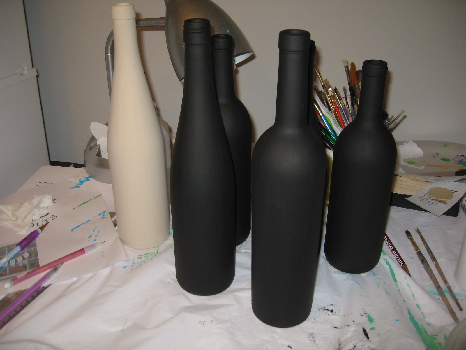Anton murals how to paint a wine bottle for What paint do you use to paint wine glasses