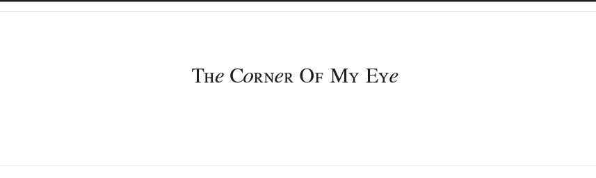 The corner of my eye