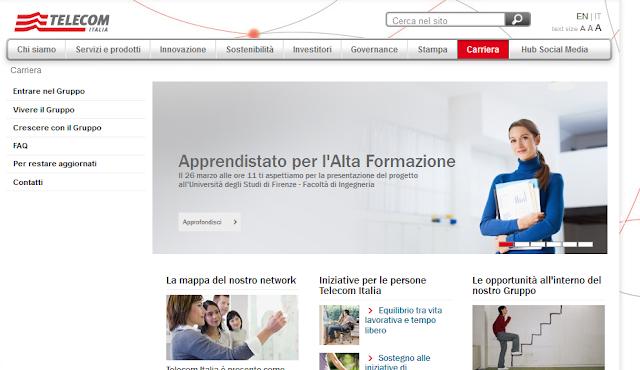 Lavora con noi: Telecom Italia