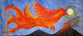 phoenix, flying