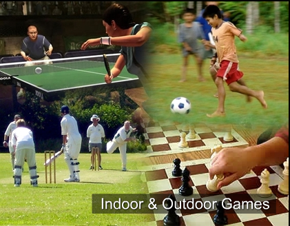 indoor games and out door games