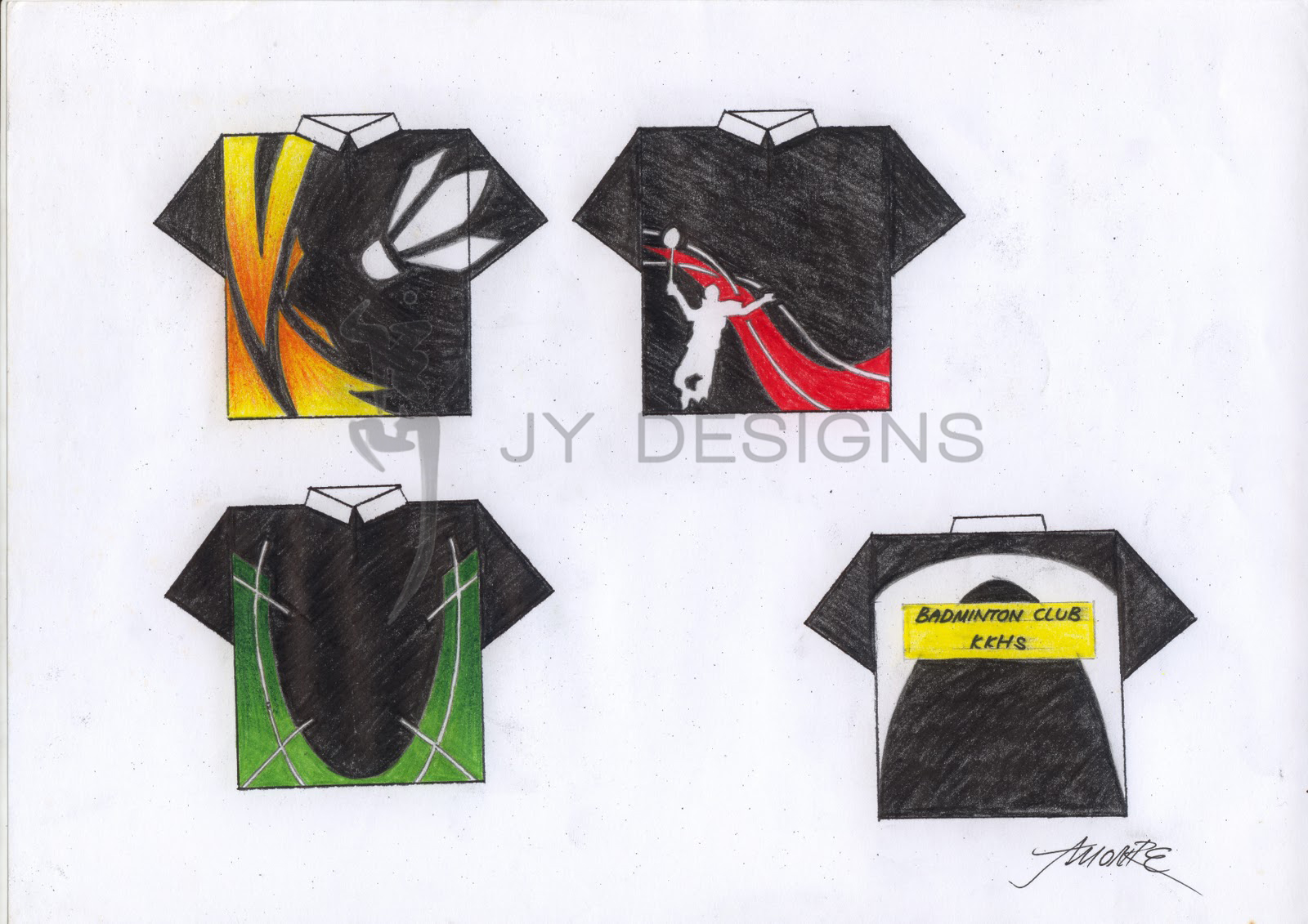 Design t shirt badminton - Design T Shirt Badminton A Couple Of Concept Designs For The Badminton Club Back In