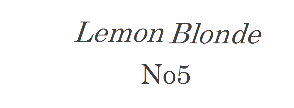 LemonBlonde No5
