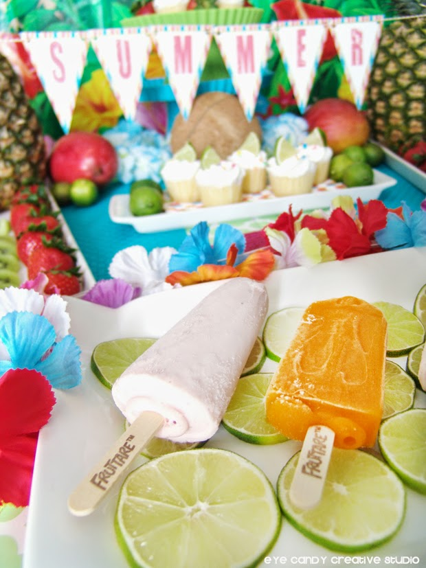 ideas on setting up a luau table, luau decor ideas, luau food ideas, summer