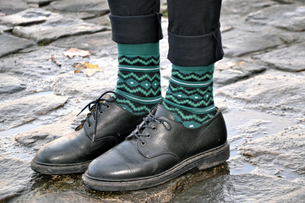 Aztec Socks Richer Poorer - chaussettes blog mode homme