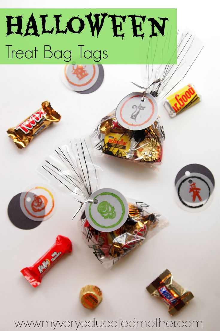 Stamped Halloween Treat Bag Tags made with @PSAEssentials stamps