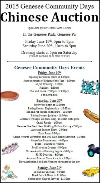 6-19/20/21 Genesee Community Days