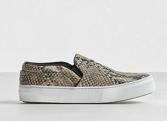 snake print slip on sneakers, trend 2014
