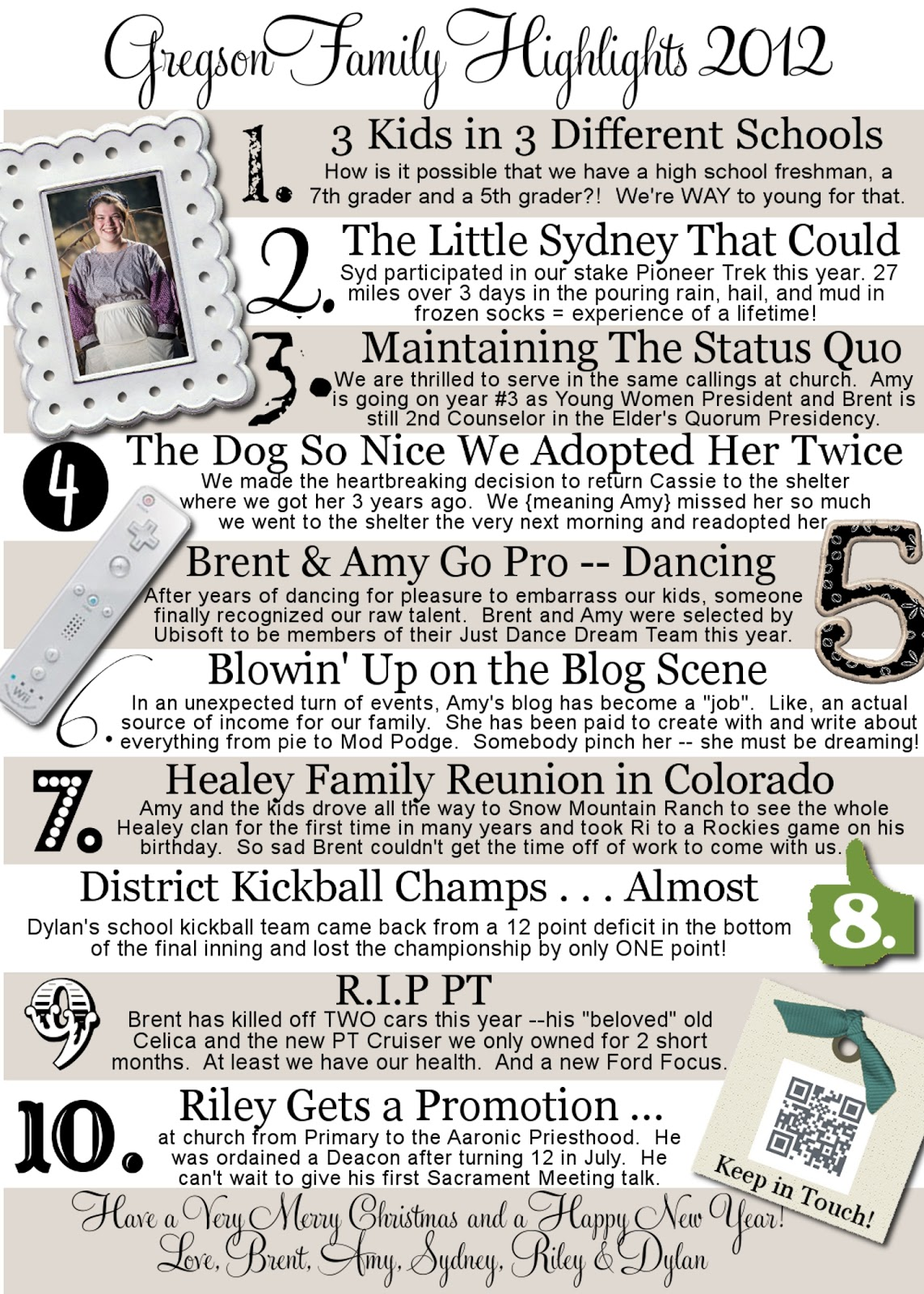17 Best images about Family newsletter ideas – Family Newsletter Template