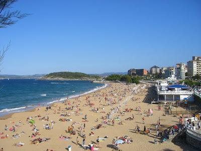 Sardinero beach in Santander