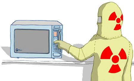 forno a microonde, radiazioni