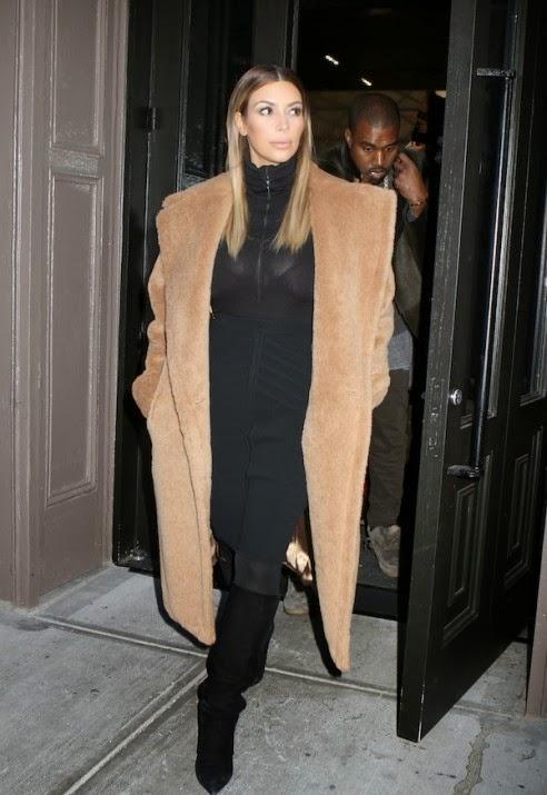 Kim Kardashian Teddy Bear coat
