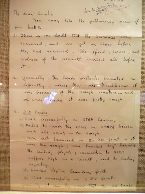 Private letter from Montgomery describing events during the landing on D-Day
