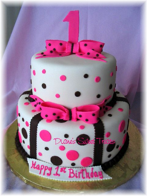 Images Of Baby Birthday Cake : 1st Birthday cake Girl Lexi s first birthday minnie ...