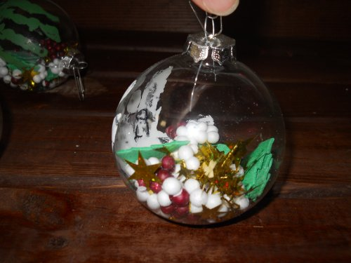 Better budgeting homemade christmas ornaments snow globe for Easy homemade christmas snow globes