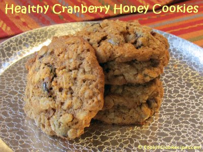 Healthy Cranberry Honey Cookies Recipe by CookieClubRecipes