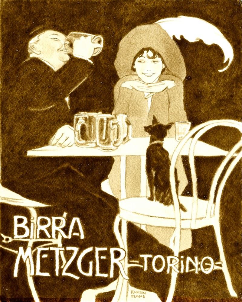 11-Vintage-Italian-Poster-Karen Eland-Vintage-Looking-Beer-and-Water-Paintings-www-designstack-co