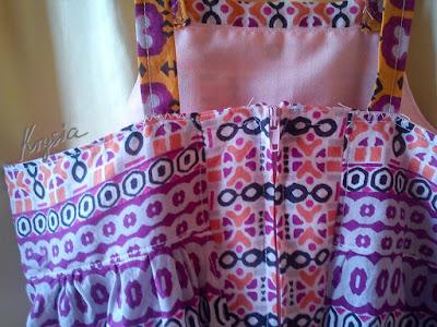 Krysia to uszyła - letnia sukienka bardzo kolorowa