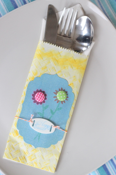 Handmade Utensil Pouch for your Easter Table from The Country Chic Cottage