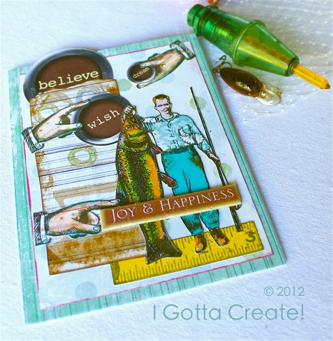 Tall {Fish} Tales! Fun card idea for #fathersday or birthday! | Tutorial at I Gotta Create!