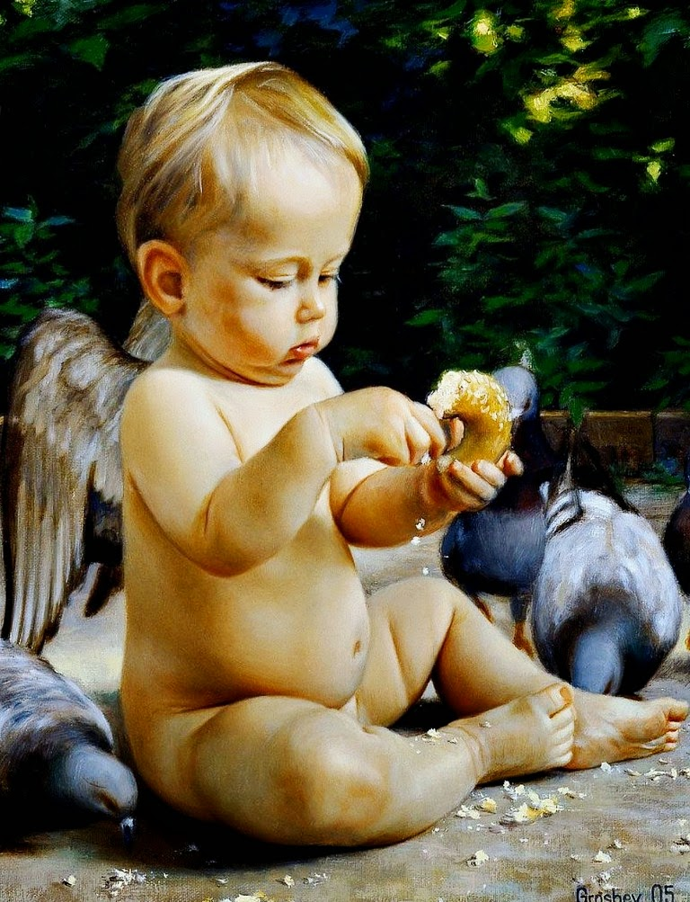 ángeles-cuadros-pintados-al-oleo
