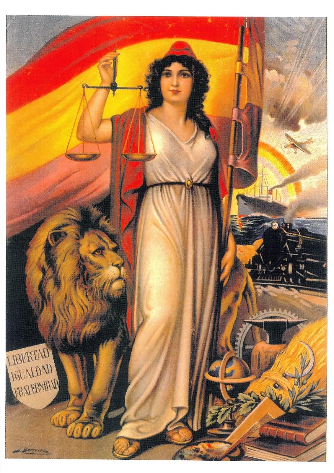 ALEGORÍA DE LA REPÚBLICA ESPAÑOLA (Contraportada)