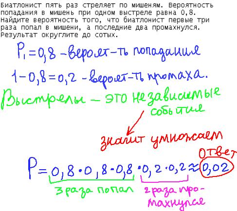 Разбор задач по теории вероятности