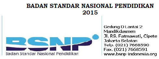 POS UN Tahun 2015 SMP/MTs/SMA/SMAK/SMTK