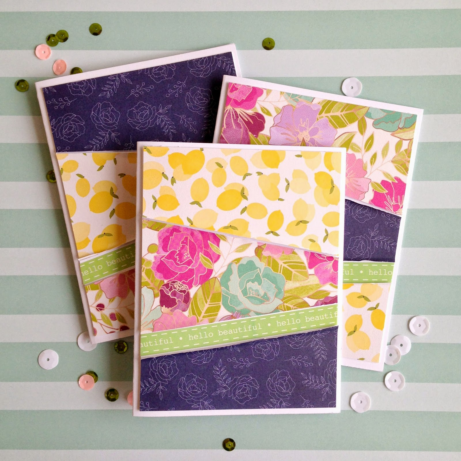 SRM Stickers Blog - Serendipity Stationery Set by Tessa Buys - #cards #card set #DIY #A7 #box #glassine bag #border #stickers #gift