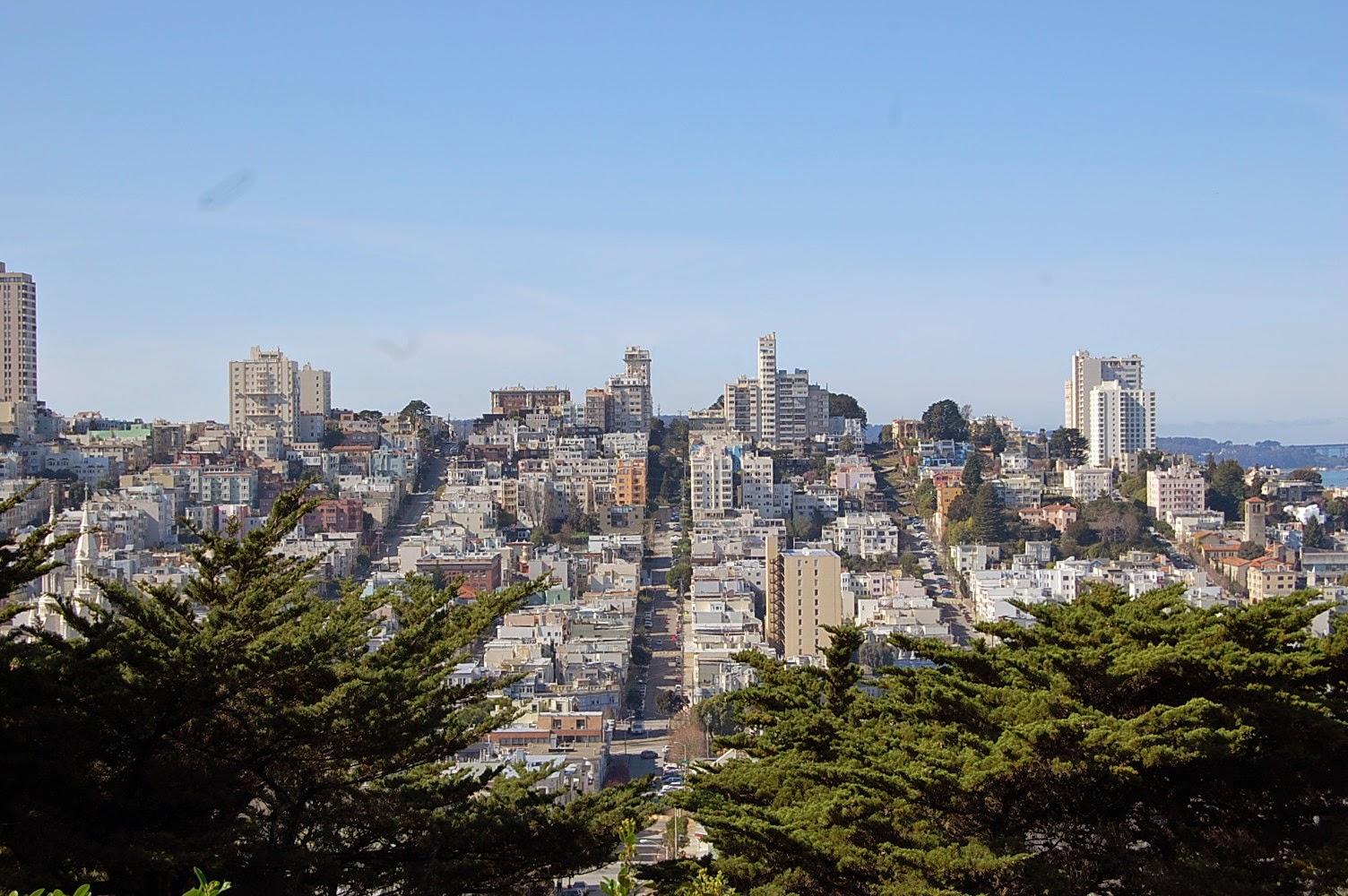 Rues de San Francisco vues de Coit Tower