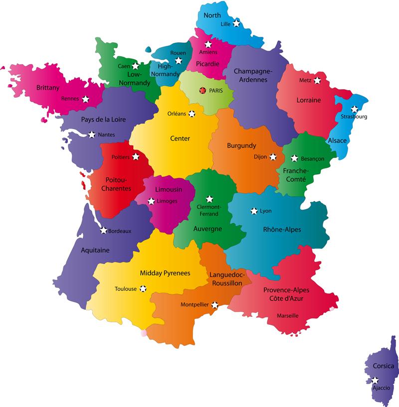 Fransa siyasi ıller haritası fransa siyasi ıller haritası büyük