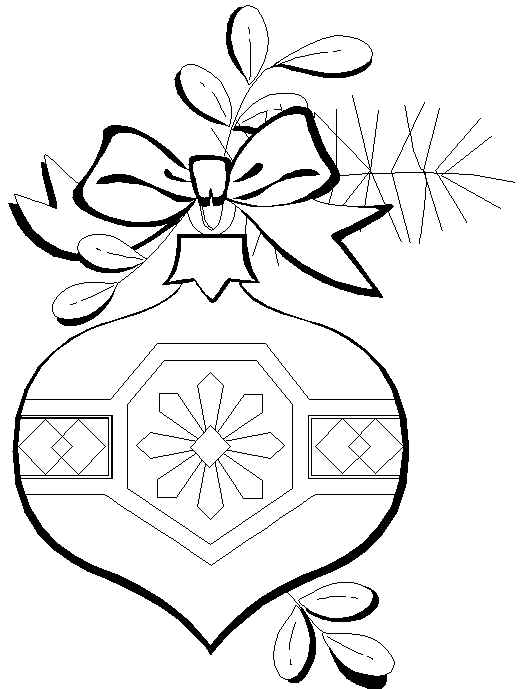 Free Coloring Pages Christmas Ornaments Coloring Page Decorations Coloring Pages