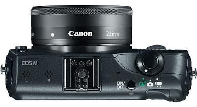 Fotografia della Canon EOS-M vista dall'alto