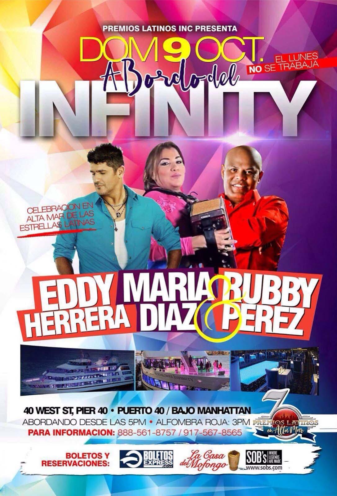 EDDY HERRERA...MARIA DIAZ y RUBBY PEREZ en el INFINITY EL YATE MAS LUJOSO DE NY