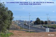 10.01.16 INFRAESTRUCTURAS: LA CARRETERA NACIONAL A-3 A SU PASO POR EL AEROPUERTO DE MANISES