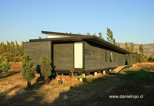 Moderna casa rural de madera en Chile