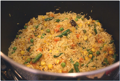 Indian Saffron Rice with Vegetables (Pulao)