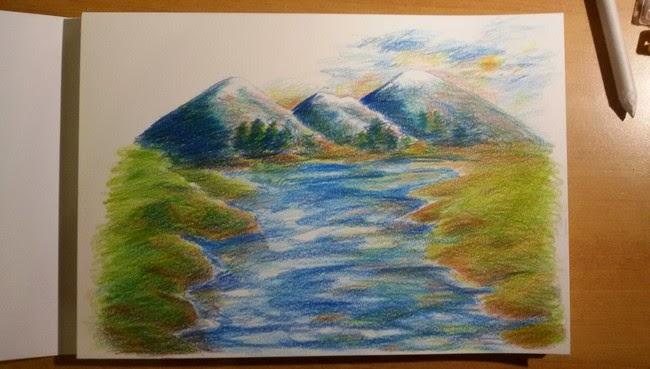 La matita autodidatta paesaggio con matite colorate for Paesaggi facili da disegnare